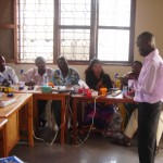 Barefoot Power trainers, Sakwa Richard (Uganda) and Paul Maina (Kenya) training Tanzanian technicians