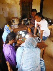 Village Agents (VAs) are explained the process of becoming renewable energy entrepreneurs.
