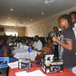 Brenda Allan introduces Barefoot Power products to the Village Agents